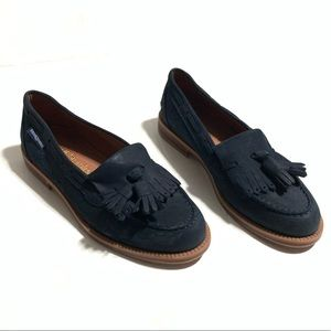 Russell & Bromley Navy Blue Chester Tassel Loafer